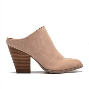 NEW Dolce Vita Tan Stacked Heel Mule - Size 7